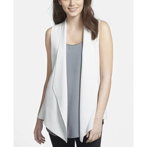 Eileen Fisher Silk/Cotton Angle Front Vest
